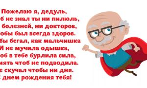 Поздравления деда с днем рождения