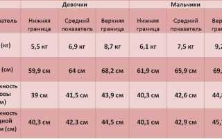Сколько должен весить грудничок в 5 месяцев или нормы веса и роста здорового пятимесячного ребенка в таблице