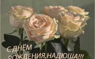 С днём рождения надежда красивые поздравления