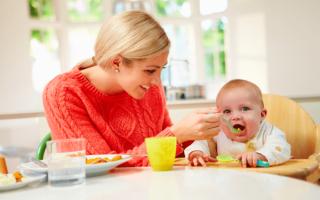 6 месяцев ребенку развитие питание таблица