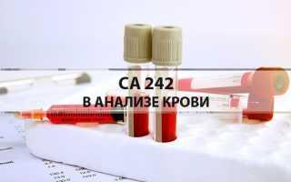 Анализ на онкомаркер са242