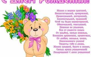 Поздравление с днём рождения девочке