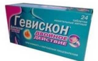 Гевискон двойное действие в таблетках