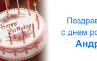 Поздравить андрея с днём рождения