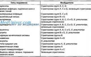 Заболевания вызываемые стрептококками