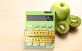 Расчет идеальной массы тела необходимого количества калорий в сутки