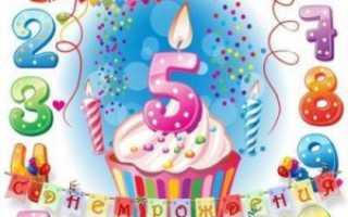 Поздравления с днем рождением девочке 5 лет