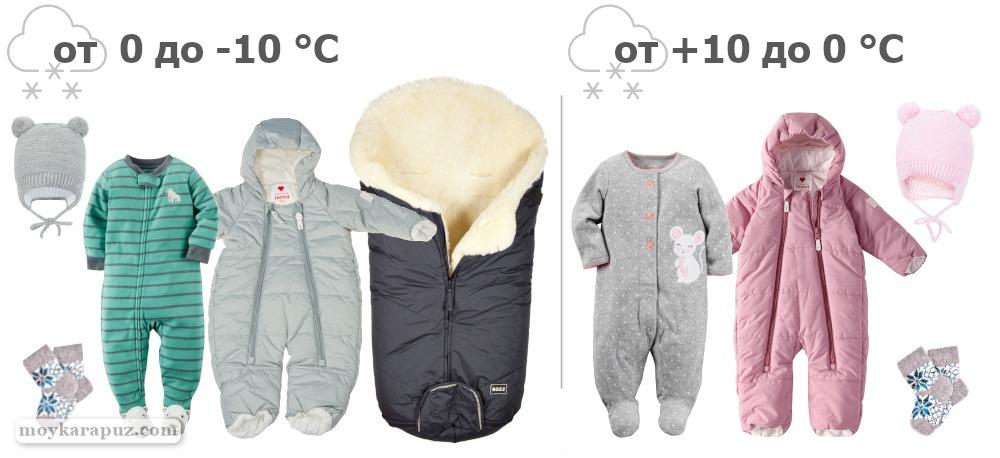 При какой температуре одевать зимний комбинезон грудничку или как одевать новорожденного зимой на улицу: советы и рекомендации