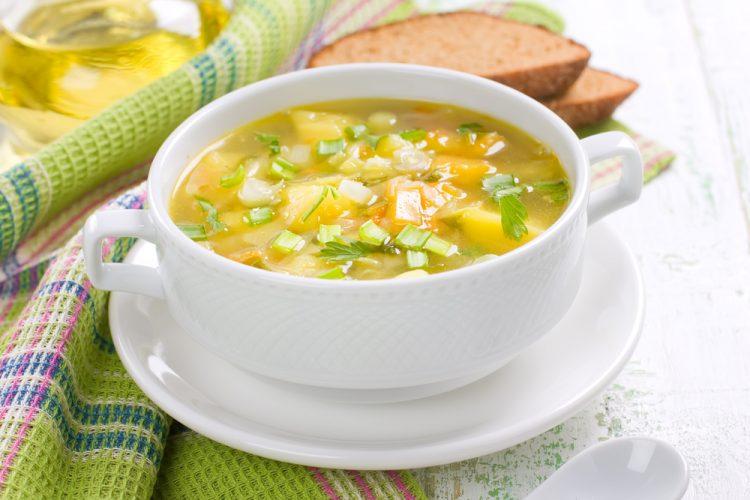 Овощной суп диета английская